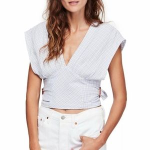 FREE PEOPLE  Short Sleeve Top size Small